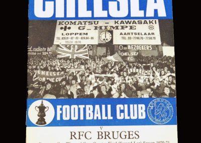 Chelsea v Club Brugge 24.03.1971 - UEFA Cup Winners Cup Quarter Final 2nd Leg
