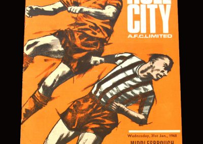 Middlesbrough v Hull 31.01.1968 - FA Cup 3rd Round Replay