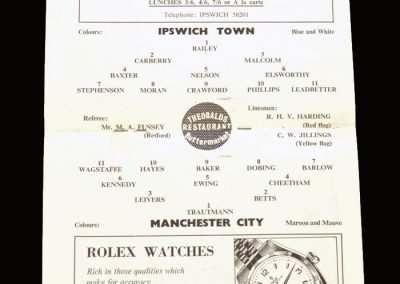 Ipswich v Man City 26.08.1961