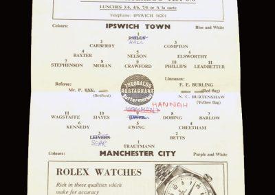 Ipswich v Man City 11.09.1961