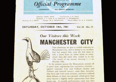 Spurs v Man City 14.10.1961