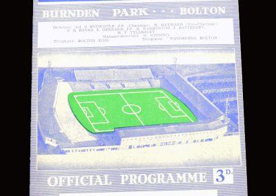 Bolton v Man City 03.02.1962
