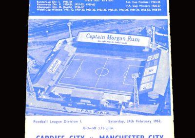 Cardiff v Man City 24.02.1962