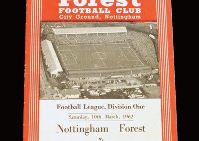 Notts Forest v Man City 10.03.1962