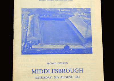 Middlesbrough v Huddersfield 28.08.1965