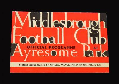 Middlesbrough v Crystal Palace 04.09.1965