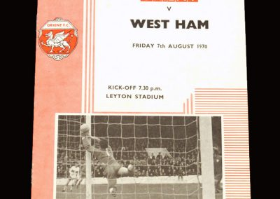 Leyton Orient v West Ham 07.08.1970 (friendly)