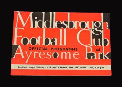 Middlesbrough v Ipswich 14.09.1965