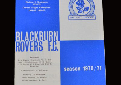 Leyton Orient v Blackburn 22.08.1970