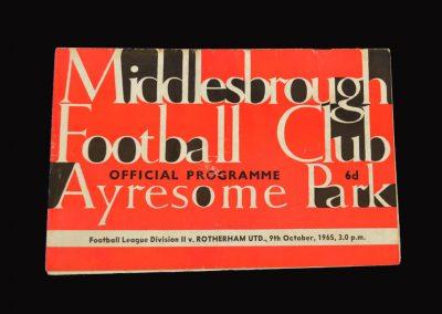 Middlesbrough v Rotherham 09.10.1965