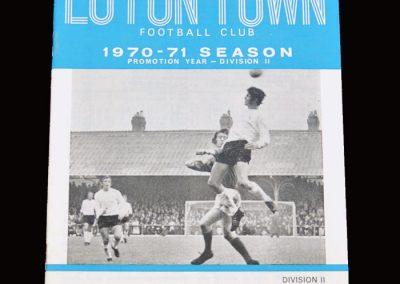 Leyton Orient v Luton 19.09.1970