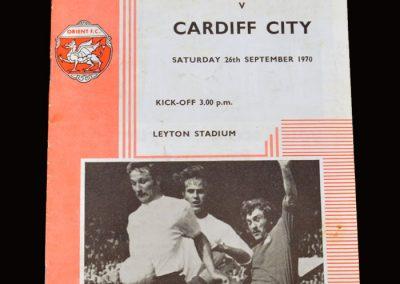 Leyton Orient v Cardiff 26.09.1970