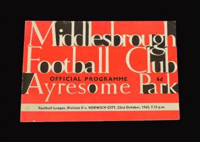 Middlesbrough v Norwich 22.10.1965