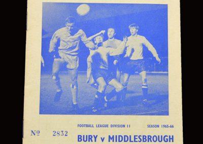 Middlesbrough v Bury 30.10.1965