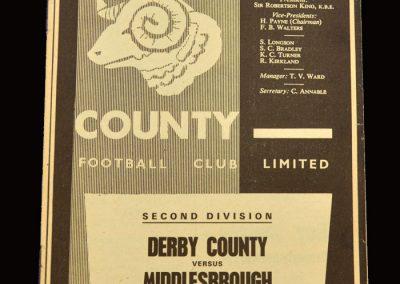 Middlesbrough v Derby 13.11.1965