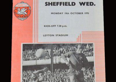 Leyton Orient v Sheff Wed 19.10.1970