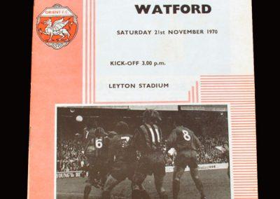Leyton Orient v Watford 21.11.1970