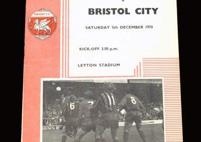 Leyton Orient v Bristol City 05.12.1970