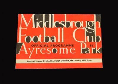 Middlesbrough v Derby 08.01.1966