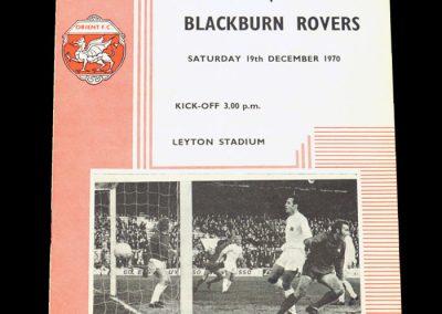 Leyton Orient v Blackburn 19.12.1970