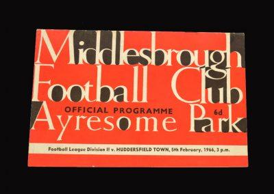 Middlesbrough v Huddersfield 05.02.1966