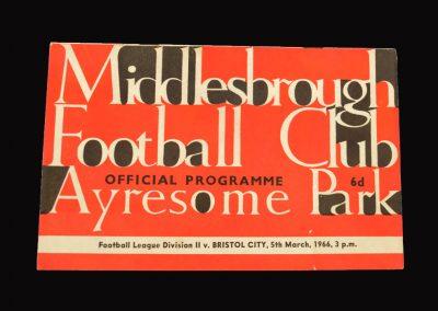 Middlesbrough v Bristol City 05.03.1966