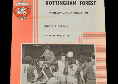 Leyton Orient v Notts Forest 25.01.1971 - FA Cup 4th Round Replay (game abandoned)