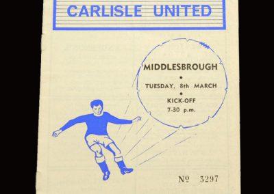 Middlesbrough v Carlisle 08.03.1966