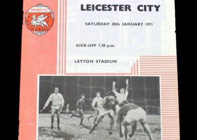 Leyton Orient v Leicester 30.01.1971 (postponed)