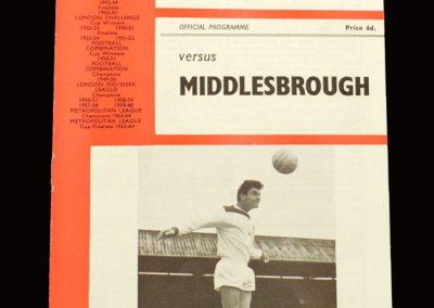 Middlesbrough v Charlton 12.03.1966