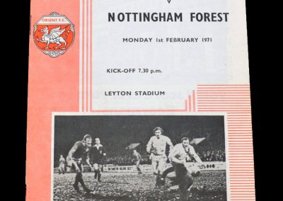 Leyton Orient v Notts Forest 01.02.1971 - FA Cup 4th Round Replay