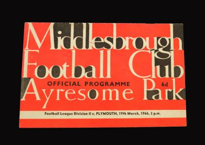 Middlesbrough v Plymouth 19.03.1966