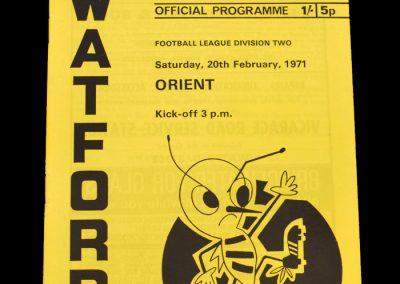 Leyton Orient v Watford 20.02.1971