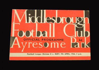 Middlesbrough v Bury 09.04.1966