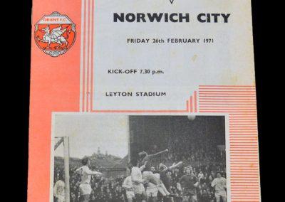 Leyton Orient v Norwich 26.02.1971
