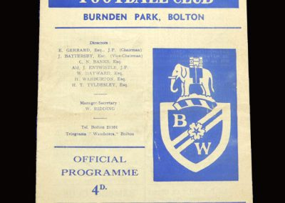Middlesbrough v Bolton 11.04.1966
