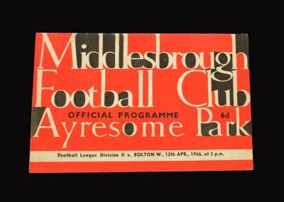 Middlesbrough v Bolton 12.04.1966