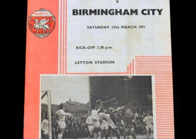 Leyton Orient v Birmingham 13.03.1971