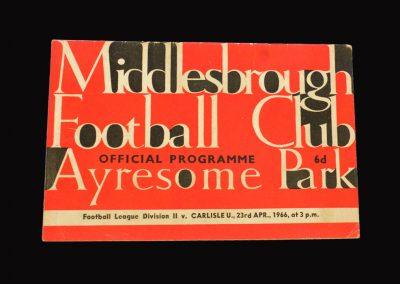 Middlesbrough v Carlisle 23.04.1966