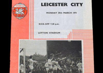 Leyton Orient v Leicester 29.03.1971