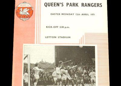 Leyton Orient v QPR 12.04.1971