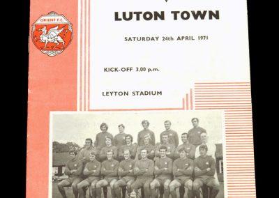 Leyton Orient v Luton 24.04.1971