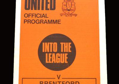 Cambridge v Brentford 31.08.1970