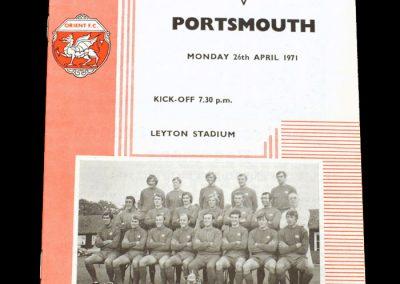 Leyton Orient v Portsmouth 26.04.1971