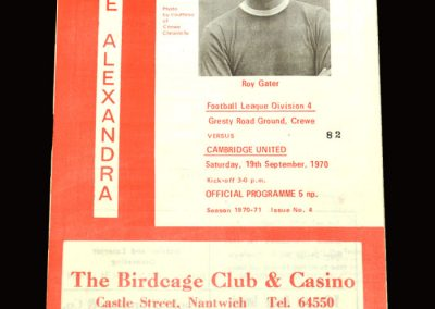 Cambridge v Crewe Alexandra 19.09.1970
