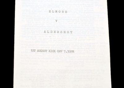 Aldershot v Elmore 01.08.1991 (friendly)