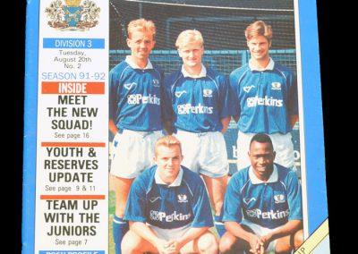 Aldershot v Peterborough 20.08.1991 - League Cup 1st Round 1st Leg