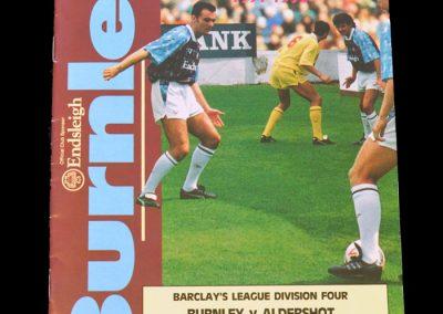 Aldershot v Burnley 24.08.1991