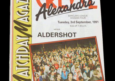 Aldershot v Crewe 03.09.1991