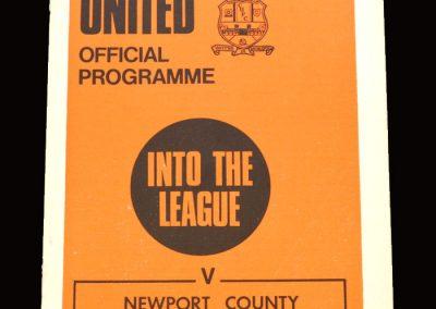 Cambridge v Newport 14.11.1970